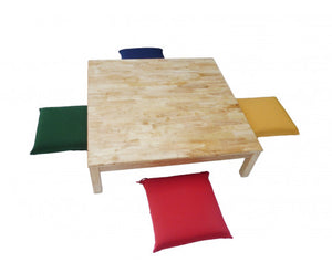 Reiko Japanese Style Square Low Table + 4 Cushion Seats Dine Set