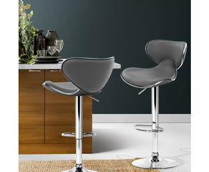 Clark Bar Stools x 2 (Grey)