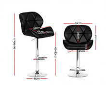 Load image into Gallery viewer, Phillips Bar Stools  (Black on Black) PU Leather & Chrome x 2 [EST.RESTOCK 05/11/20]