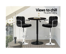 Load image into Gallery viewer, McGrane Bar Table (Black) Adjustable ROUND [EST. RESTOCK 25/10/20]