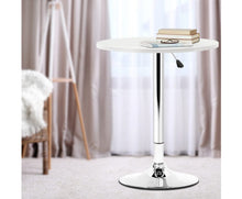 Load image into Gallery viewer, McGrane Bar Table (White) Adjustable ROUND [EST. RESTOCK 08/12/20]