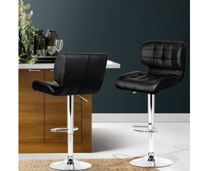Emma Bar Stools x 2 (Black)