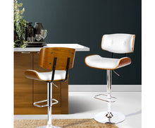 Load image into Gallery viewer, McGrane Bar Stool x 1 (White, Timber & Chrome) [EST. RESTOCK 25/10/20]