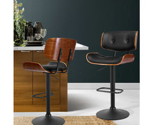 Load image into Gallery viewer, McGrane Bar Stool x 1 (Black, Timber & Black Powder Coat) [EST. RESTOCK 02/11/20]