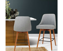 Load image into Gallery viewer, Moore Dining Stools x 2 (Lt. Grey & Timber) [EST. RESTOCK 16/11/20]
