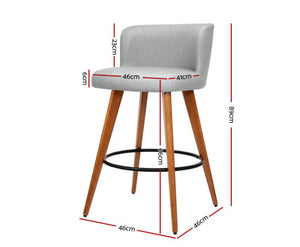 Adele Barstools x 2 (Timber & Lt. Grey) [EST. RESTOCK 25/10/20]