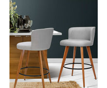 Load image into Gallery viewer, Adele Barstools x 2 (Timber & Lt. Grey) [EST. RESTOCK 25/10/20]