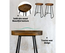 Load image into Gallery viewer, Noah Bar Stools 'LOW' x 2 (Black & Dk. Timber)