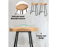 Load image into Gallery viewer, Noah Bar Stools 'LOW' x 2 (Black & Lt. Timber)