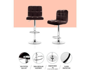 James Bar Stools x 2 (PU Leather Chocolate Brown) [EST. RESTOCK 05/11/20]