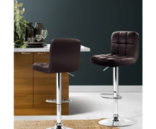 Load image into Gallery viewer, James Bar Stools x 2 (PU Leather Chocolate Brown) [EST. RESTOCK 05/11/20]