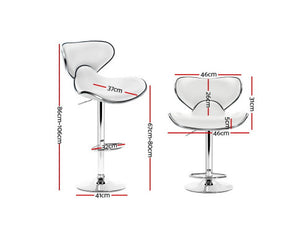 Clark Bar Stools x 2 (White)
