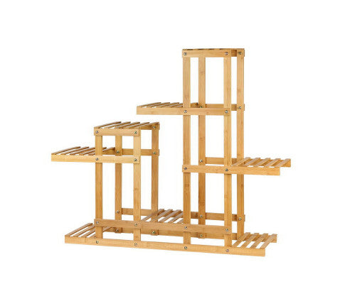 Felisa Plant Stand - Multi level / wide Bamboo Display & Plant Stand (Natural)