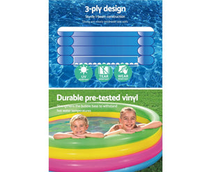 Molly Inflatable Round Kids Rainbow Play Pool
