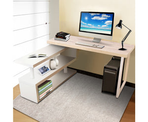 Björn Rotary Corner Desk with Bookshelf