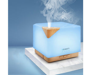 DEVANTI Light Wood Aroma Diffuser / Humidifier 3D LED Night Light