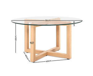 Thomas Tempered Glass Round Coffee Table [EST. RESTOCK 09/11/20]