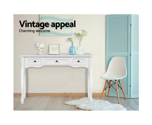 Matthew Hallway/Bedroom Dressing Table 3 x Drawer (White) $PECIAL