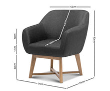 Load image into Gallery viewer, Thomas Fabric Tub Armchair (Charcoal) [EST. RESTOCK 30/10/20]