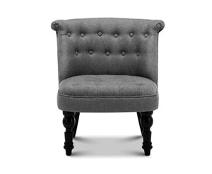 Fifi Provincial Style Feature / Lounge Chair (Grey)