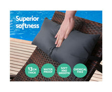 Load image into Gallery viewer, Hamilton Outdoor Daybed Wicker Lounge (Brown) + (Black) Pillow