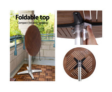 Load image into Gallery viewer, Maynard 3 piece Bar/Bistro ROUND / WOOD Table & Stools (Aluminium) [EST. RESTOCK 18/11/20]