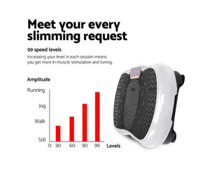 Ivana Everfit Vibration Platform Body Shaper Fitness (White)