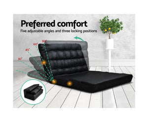 Norma Folding Sofa Bed  (Black)