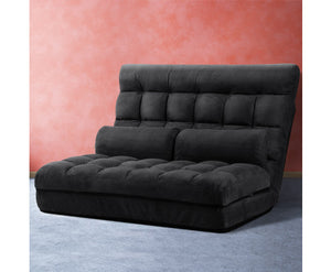 Norma Folding Sofa Bed (Charcoal Suede)