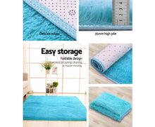 Load image into Gallery viewer, FLF Ultra Soft Shaggy Floor Rug - Carpet 200cm x 230cm (Turquoise) [EST. RESTOCK 05/11/20]