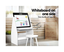 Load image into Gallery viewer, Nino Children's Activity Centre + Stool (white)