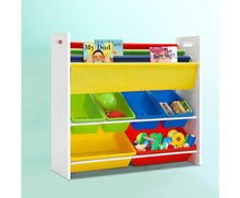 Load image into Gallery viewer, Lexi Kids Plastic Bin & Book Organiser (Multi-Coloured)