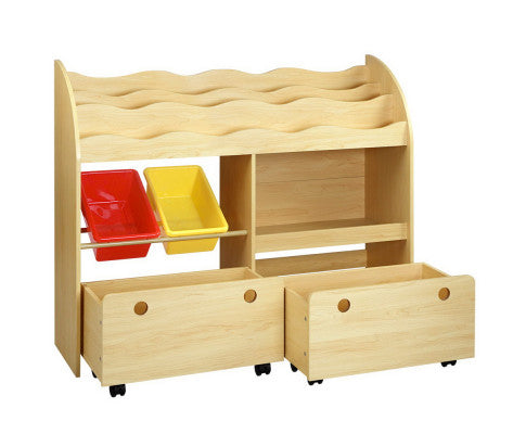 Nino Children's Book & Toy Organizer with Rollers