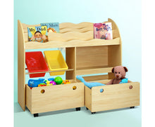 Load image into Gallery viewer, Nino Children's Book & Toy Organizer with Rollers