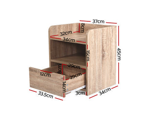 Lama Bedside Table (Oak) [EST. RESTOCK 28/10/20]