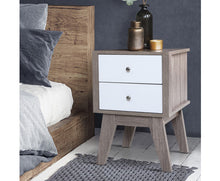 Load image into Gallery viewer, Holden Bedside Table , 2 Drawer Bedside Table  (Wood/White) [EST. RESTOCK 04/12/20]
