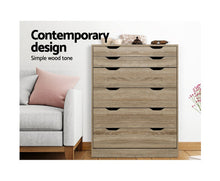 Load image into Gallery viewer, Benji 6 drawer Chest of Drawers Tallboy Oak [EST. RESTOCK 02/11/20]