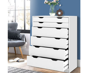 Saturn 6 Drawers Tallboy Cabinet