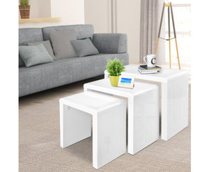 Jim Nesting Coffee Tables x 3 (Gloss White) [EST. RESTOCK 30/11/20]