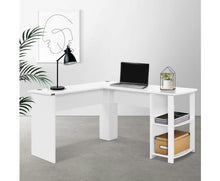 Load image into Gallery viewer, Col L-Shape Corner Computer Desk (White)