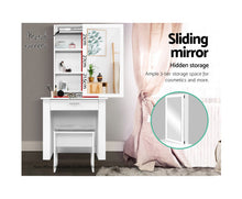 Load image into Gallery viewer, Suzi Dressing Table, Mirror, Cabinet and Stool (White) * $PECIAL