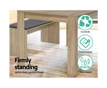Load image into Gallery viewer, Coco Dining Table 4-6 Seater Wooden Oak 120cm