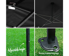 Load image into Gallery viewer, Matilda Pop Up Gazebo 3m x 6m Outdoor (Black)