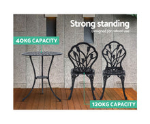 Load image into Gallery viewer, Sunny Patio 3PC Outdoor Setting Aluminium (Black)