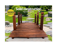 Load image into Gallery viewer, FLF 160cm Garden Rustic Chain Wooden Timber Bridge
