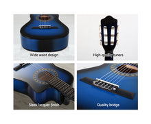 Load image into Gallery viewer, Alpha (Blue) Acoustic Guitar & Accessories + Stand