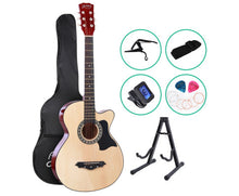"Load image into Gallery viewer, Alpha (Natural) 38"" Acoustic ONLY Guitar Wooden Classic"