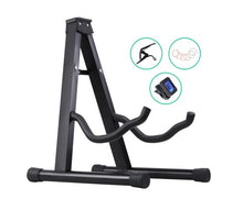 Load image into Gallery viewer, Alpha Acoustic / Bass Guitar Folding Stand + Accessories