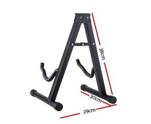 Alpha Acoustic / Bass Guitar Folding Stand + Accessories
