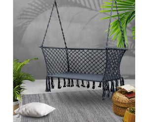 Sandy Indoor/Outdoor Double Hammock Swing Chair (Grey) [EST. RESTOCK 13/11/20]